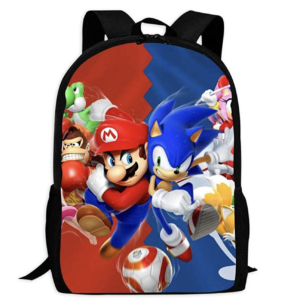 Children's School Bags M-ar-io So-nic Printing Backpacks Kids Daypack for Boys Girls