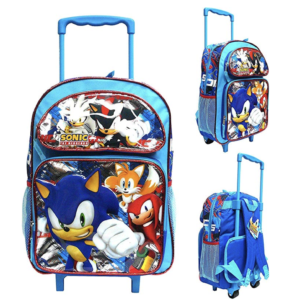 "Sonic The Hedgehog 16"" Large Rolling School Backpack"