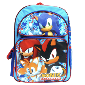 Sonic The Hedgehog Large Backpack 16""